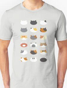 Row of Cats - Neko Atsume Unisex T-Shirt