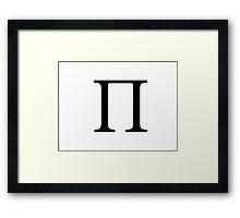 Pi Greek Letter Framed Print