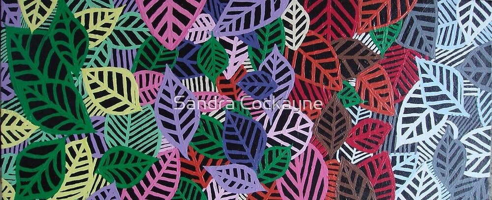 Four Seasons - Artwork In Acrylics On Canvass  by Sandra Cockayne