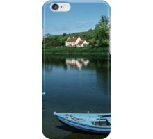 Boats on tweed at Loanend Northumbria England 19840529 0053  iPhone Case/Skin