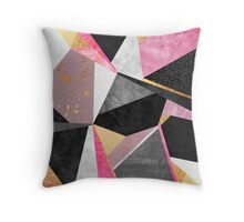 Geometry / Pink Throw Pillow