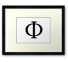 Phi Greek Letter Framed Print