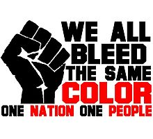 ONE NATION ONE PEOPLE- USA Photographic Print