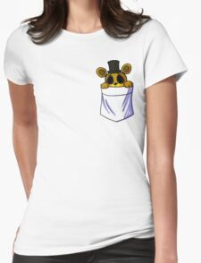Golden Freddy in my Pocket Womens Fitted T-Shirt