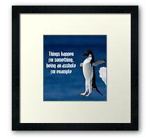 Wise penguin Framed Print