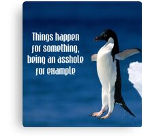 Wise penguin Canvas Print