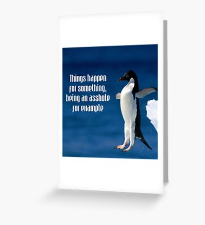 Wise penguin Greeting Card