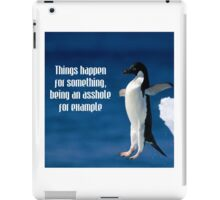 Wise penguin iPad Case/Skin