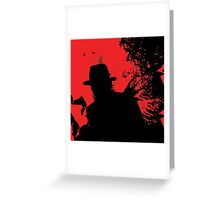 Icons of Horror - Freddy Greeting Card