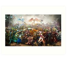 League of Legends Collaboration Art Print