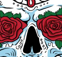 Red Rose Sugar Skull Sticker