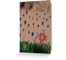 flower in the rain Greeting Card