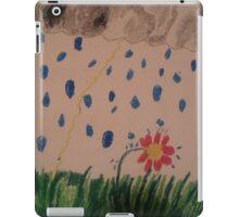 flower in the rain iPad Case/Skin