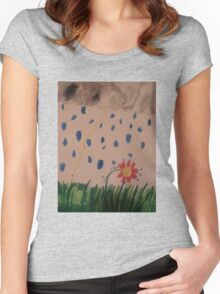flower in the rain Women's Fitted Scoop T-Shirt