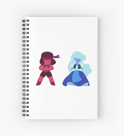 Ruby and Sapphire - Steven Universe Spiral Notebook