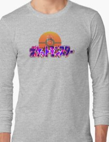 Vaporwave Pokemon Long Sleeve T-Shirt