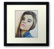 hailee colored pencil Framed Print