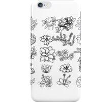 Succulent Chart iPhone Case/Skin