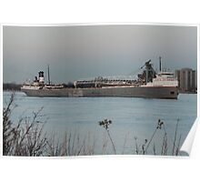 Freighter St. Clair River Poster