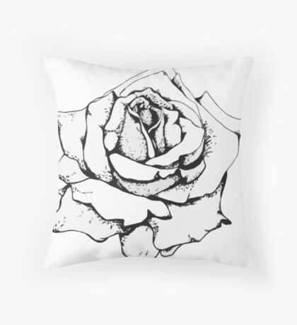 Crave the Rose Throw Pillow
