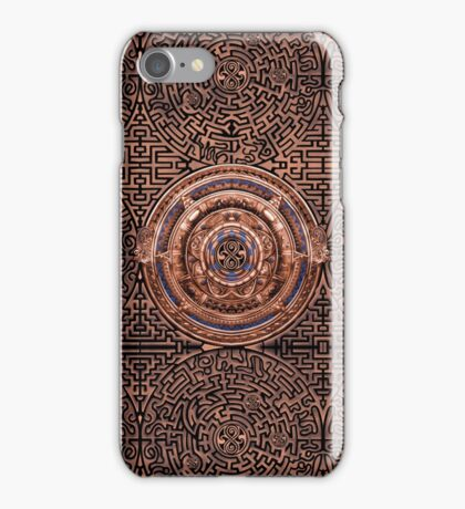 Aztec Time Travel Pendant Medallion iPhone Case/Skin