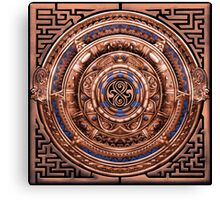 Aztec Time Travel Pendant Medallion Canvas Print