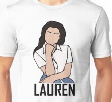 Outline of Lauren Jauregui Unisex T-Shirt