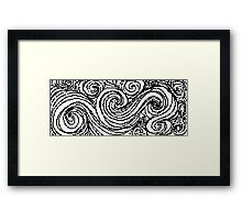 Swirly Whirly- Uncolored Framed Print