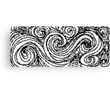 Swirly Whirly- Uncolored Canvas Print