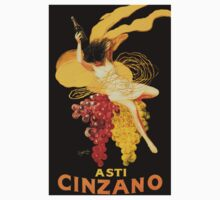 Vintage poster - Asti Cinzano One Piece - Short Sleeve