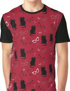 Siamese Cat's Eye Glasses Graphic T-Shirt