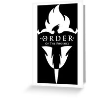 ORDER Of The Phoenix White Greeting Card