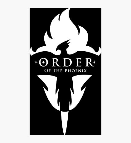 ORDER Of The Phoenix White Photographic Print