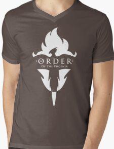 ORDER Of The Phoenix White Mens V-Neck T-Shirt
