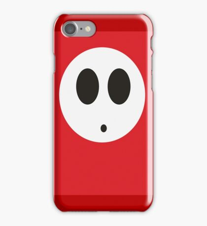 Shy Guy (Red) iPhone Case/Skin