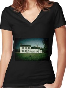 The Craig House II Women's Fitted V-Neck T-Shirt