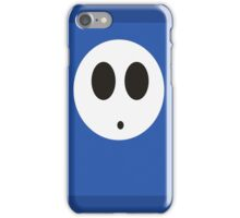 Shy Guy (Blue) iPhone Case/Skin
