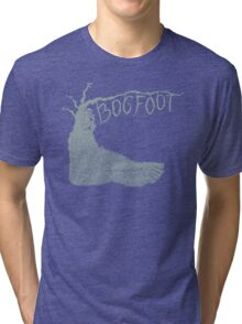 Bogfoot Swamp Thing Woodcut Tri-blend T-Shirt