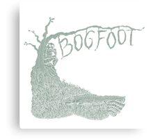 Bogfoot Swamp Thing Woodcut Canvas Print