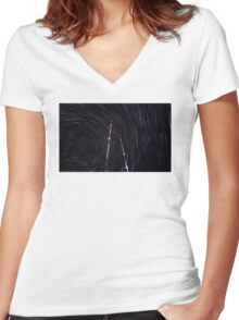 Space World Women's Fitted V-Neck T-Shirt