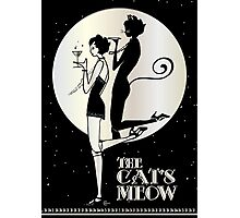 Gatsby Girl Flapper The Cat's Meow (black, silver & pearl) Photographic Print