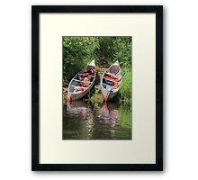 Let's Go Canoeing Framed Print