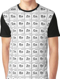 Ba Zn Ga! Periodic Table Scrabble [monotone] Graphic T-Shirt
