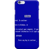 Windows blue screen of death iPhone Case/Skin