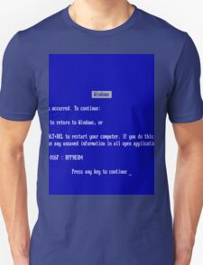 Windows blue screen of death Unisex T-Shirt