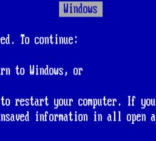 Windows blue screen of death Sticker