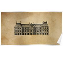 Architectural Elevation - Palais du Luxembourg Poster