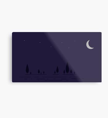 Nighttime in vectors  Metal Print