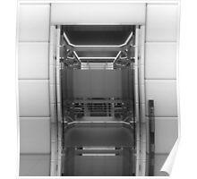 Elevator Concept Interior Design 3D Digital Art Poster