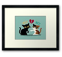 Yes or no Framed Print